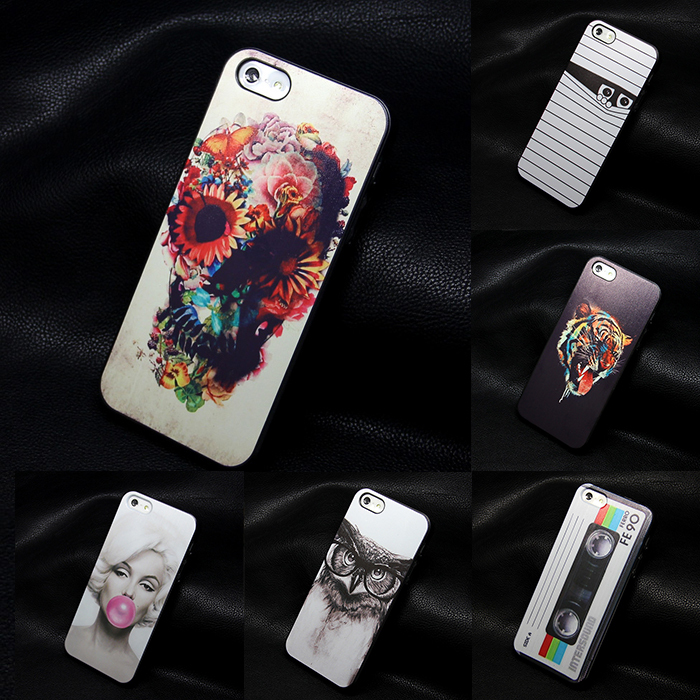 hard black iphone 4 4s 5 5S SE cases new design Flowers Skull cell phone cute caso back case iphone4 - MISSCASE Store store