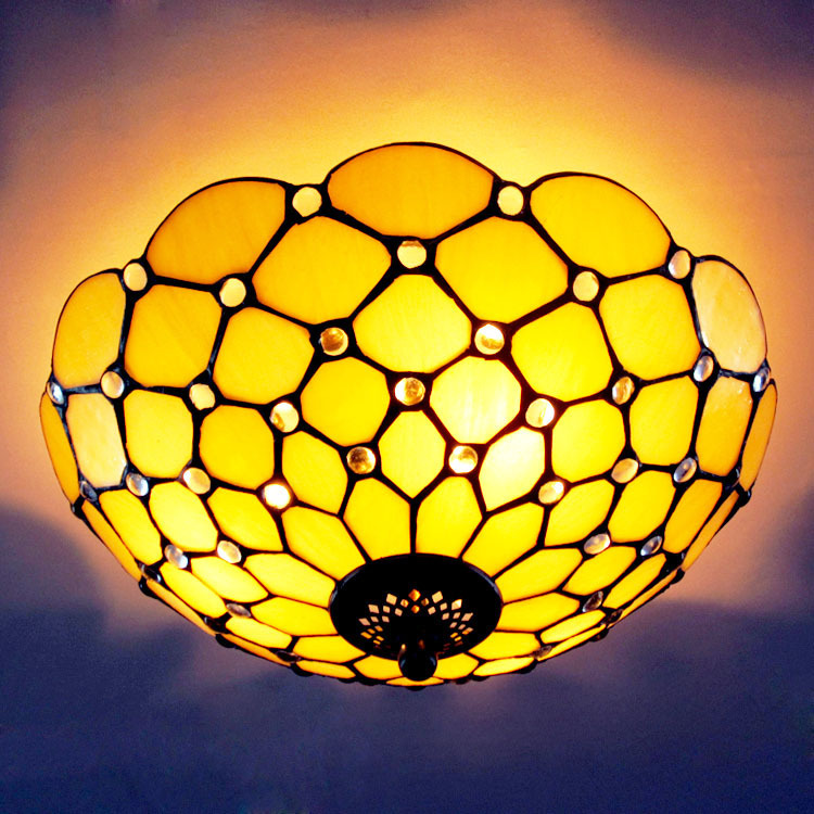 Starry stained glass ceiling chandelier bedroom, living room lamps with fine restaurants(China (Mainland))