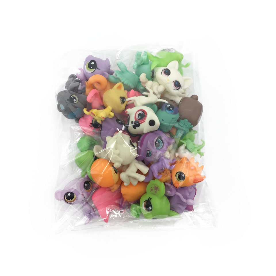 31Pcs/bag LPS Little Pet Shop Toys Littlest cartoon Animal cute Cat Dog loose Action Figures collection Kids Girl toys Gift(China (Mainland))