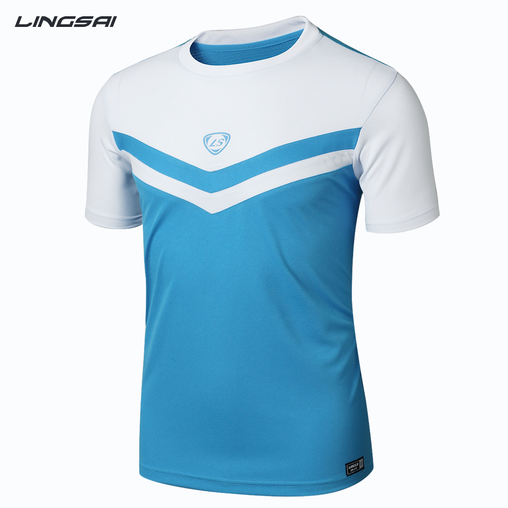 LINGSAI Hot sale 2015 Running t shirt Quick Dry Casual T-Shirts Outdoor Tees&Tops Slim Fit Sports Shirt(China (Mainland))