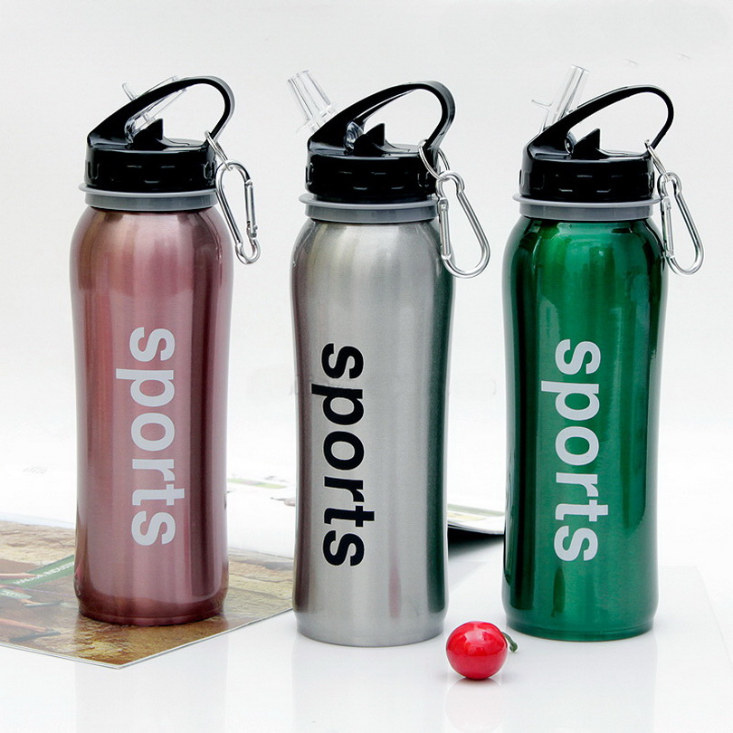 Creative Travel Outdoor Water Bottles Portable Dog Cat: New Sngle Layer Stainless Steel Outdoor Sports Water