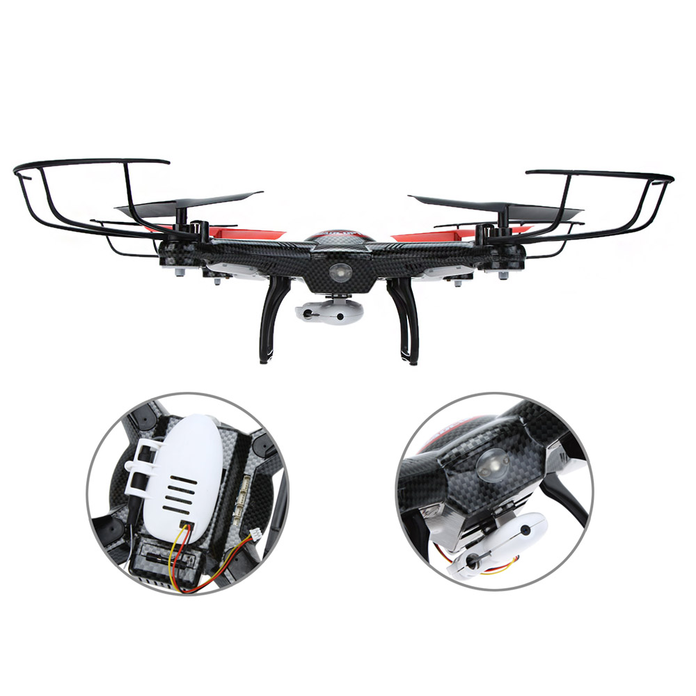 Wltoys V686G 6-axle Gyro 2.4G 4CH 5.8G Real-time Images RC FPV Quadcopter Drone with 2.0MP Camera One Key Return CF Mode F16380