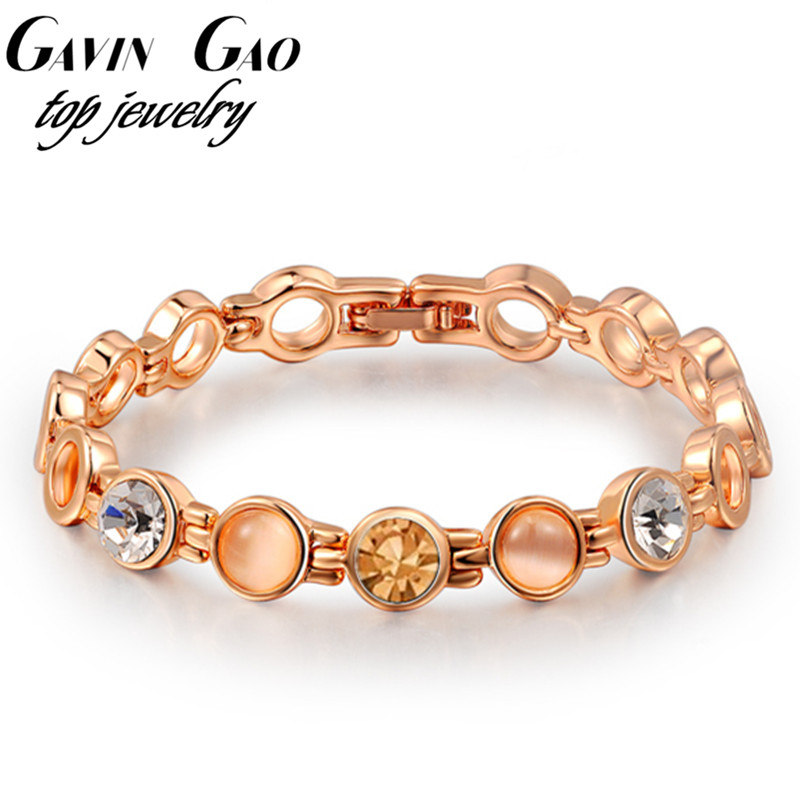 ROXI bestfriend gift 18k gold plated Czech stone ladies bangle bracelets for women fashion jewelry/ personalized bracelets<br><br>Aliexpress