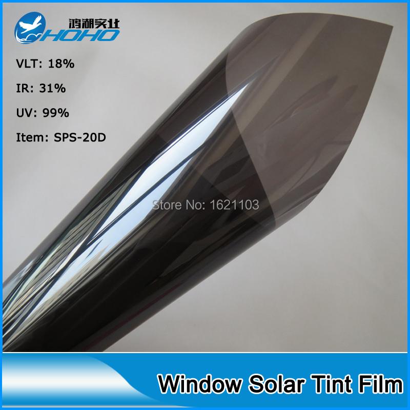 Dark grey 18 reflective 5ft x 10ft roll glass solar for 20 window tint film