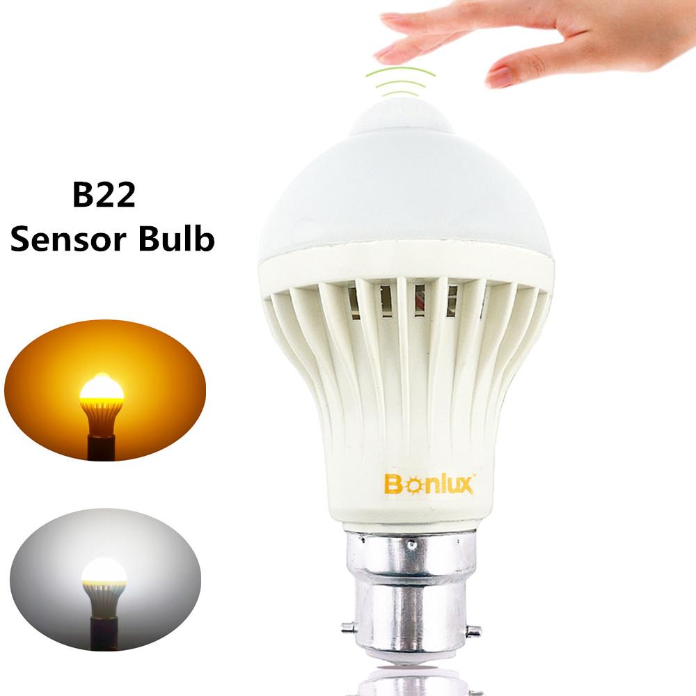B22 LED Motion Sensor Light Bulb 5W Bayonet B22 with 50W Halogen Bulb Replacement for Washroom Hallway Cabinet Lighting(China (Mainland))
