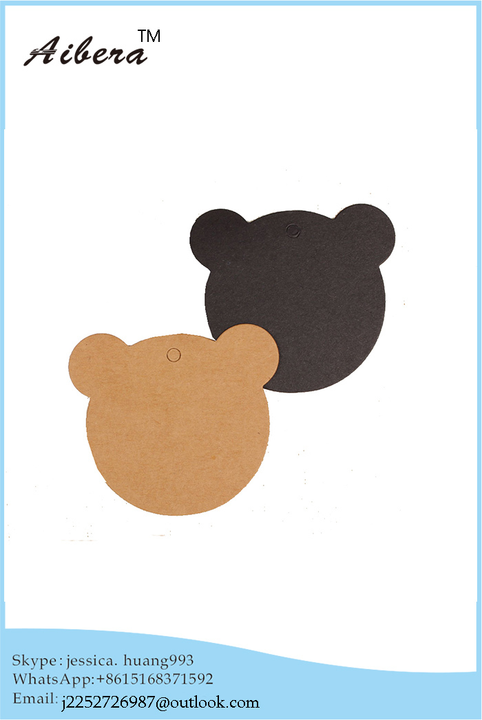 Direct Factory Special design Cheap customized Printed black paper card and soft garment hangtag(China (Mainland))