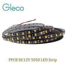 Black FPCB LED strip 5050 12V flexible light,Waterproof IP65,60LED/m,5m 300LED,White,White warm,Red,Green,Blue,RGB,Free shipping(China (Mainland))
