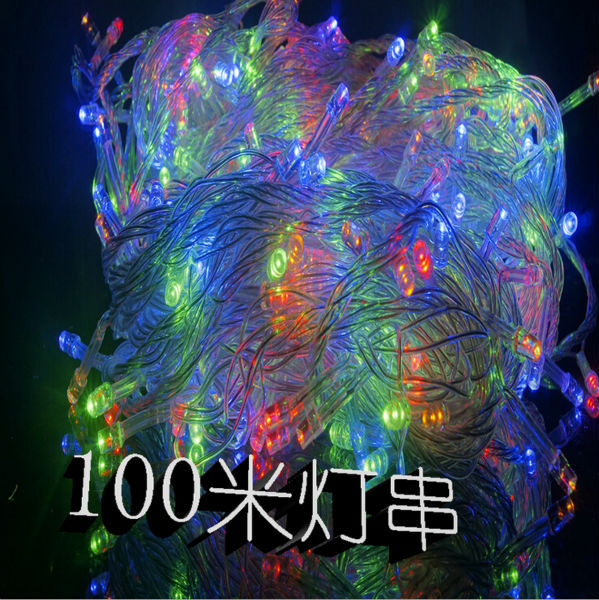 Unusual Christmas String Lights : Novelty 100m white led string light 600leds wedding partying xmas christmas tree Twinkle Fairy ...