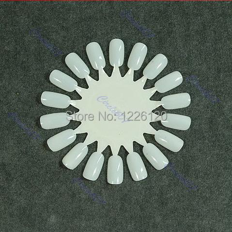 W1101White False Nail Display Tips Practice Wheel &Retail - co-co fashion store