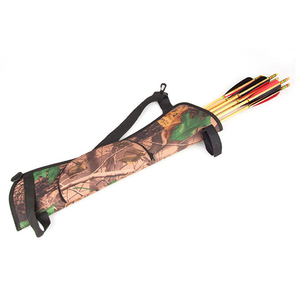 2015 New Arrival Camo Archery Hunting Bow ARROW BACK SIDE QUIVER Holder Bag w Zipper Pocket