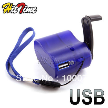 1pcs/lot USB Hand Power Dynamo Torch Charger Cellphone MP3 For PDA   #1964
