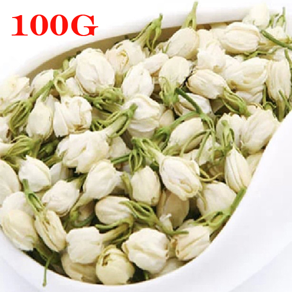 Promotion!100g China 100% Natural Freshest Jasmine Tea Flower Tea Organic Food Green Tea Health Care Weight Loss Free