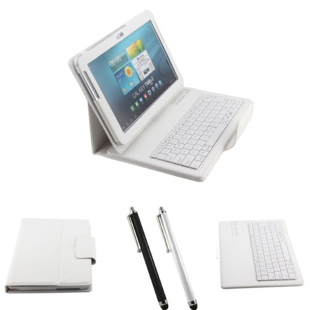 For samsung P5100/P5110 P7500 bluetooth keyboard galaxy tab tab 2 10.1 inch leather case cover with stand function Free shipping(China (Mainland))