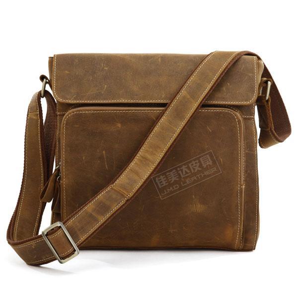 Classic vintage crazy horse leather cowhide male Medium shoulder bag messenger bag 7051b-1<br><br>Aliexpress