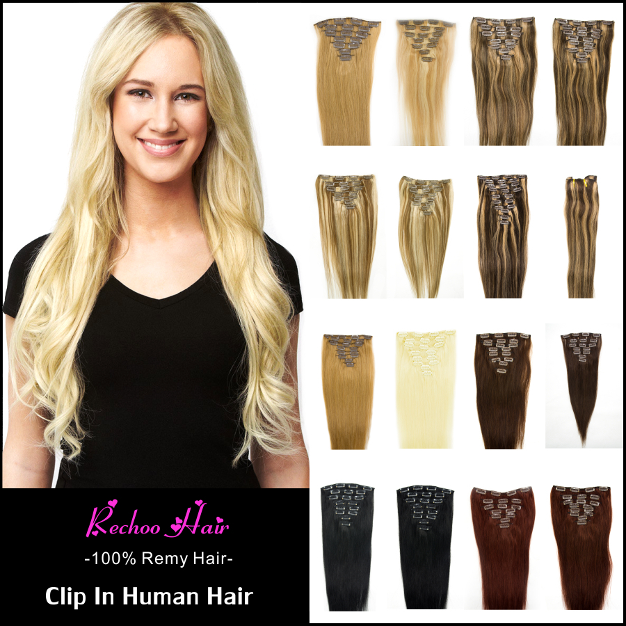 Гаджет  New Arrival Brazilian Body Wave Clip In Extension 8 Pcs Clip In Human Remy Hair Wavy Dark Brown Hair Color Clip In None Волосы и аксессуары