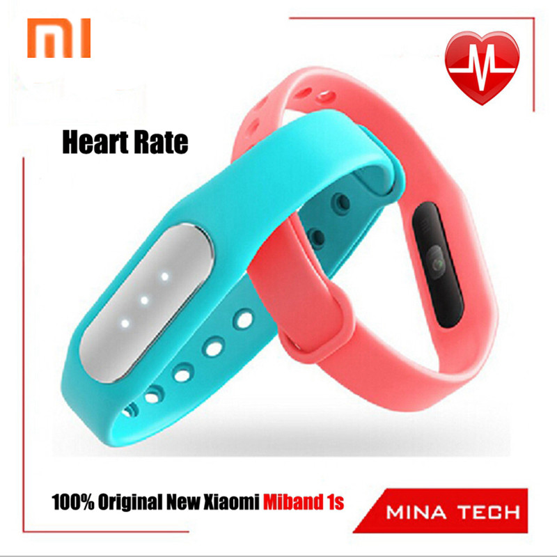 100% Original New Heart Rate Xiaomi MiBand 1s Mi Band Light Sense Vers