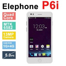 In Stock Original Elephone P6i MTK6582 Quad Core Android 4.4 5.0 inch 960×540 IPS 1GB RAM 4GB ROM 13MP OTG Smartphone Phone