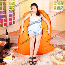FREE SHIPPING 140*180CM orange beanbag 100% cotton bean bag chair cover living room lazy chair without filling