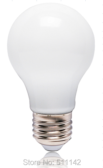 Classic A60 led ceramic bulb 6W, 470lm, Ra>80,62mA, 360 wide angle, 30000hrs life time, 100pcs/lot, free shipping(China (Mainland))