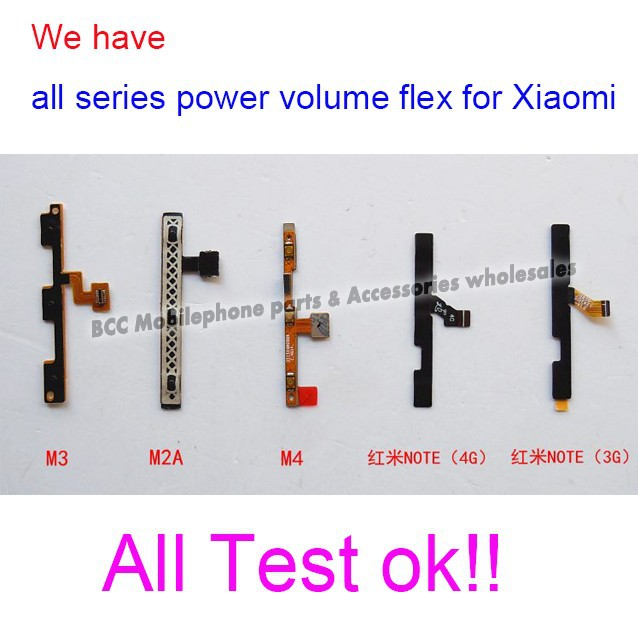 Original New power on/off + Volume Buttons Cable for Xiaomi Mi3 M3 3 phone parts for repair Free shipping +tracking code