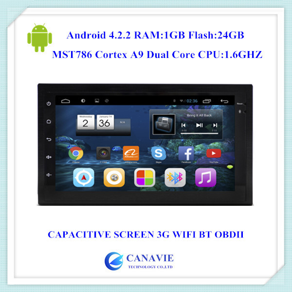 Android 4.2.2 HD1024X600 Double Two 2 Din Head Unit Auto Audio Stereo Mirrorlink 3G WIFI DVR OBDII TPMS Flash 24GB(China (Mainland))