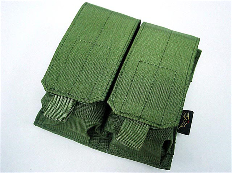 Airsoft Molle Tactical Military Army Utility Double AR15 M4 5.56mm Large Mag Magazine Clip Pouch Can be add on Tactiacl Vest(China (Mainland))