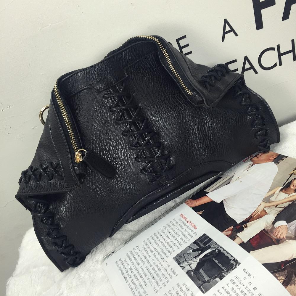Recommend new punk  black lace trend personalized envelope clutch bag ladies handbag shoulder bag across-body messenger bags<br><br>Aliexpress