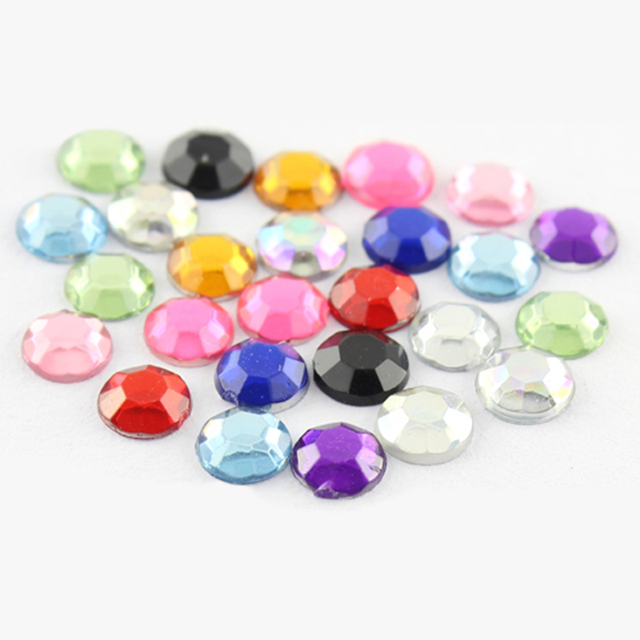 Makartt New Nail Art Decorations 5mm 11 Mix Color Rhinestone 3D Nail Art Manicure Nail Tools Glitter 3D Nail Tools D0456