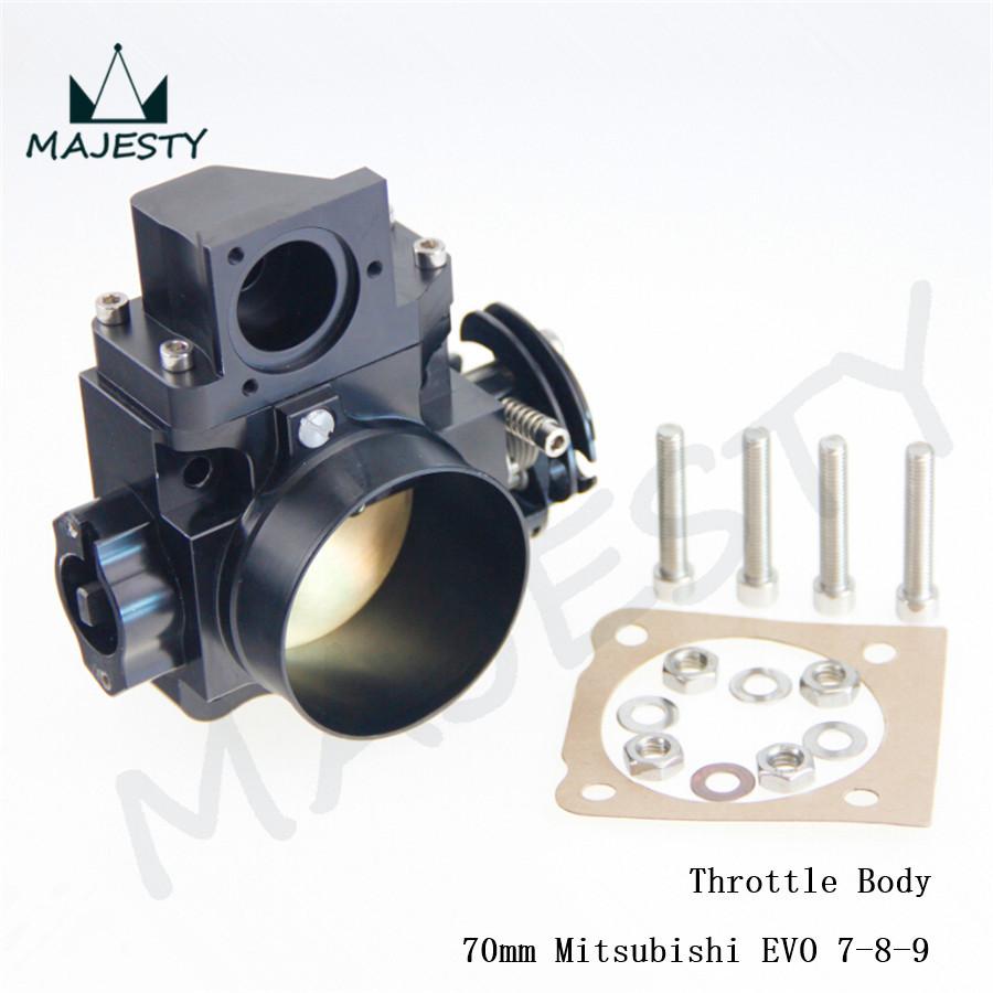 Brand New 70mm Throttle Body for Mitsubishi EVO7 EVO8 EVO9 4G63 03-07 brand new black(China (Mainland))