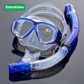 Optical Diving Gear Kit Myopia Snorkel Set Different Strength for Each Eye Nearsighted Scuba Mask Dry