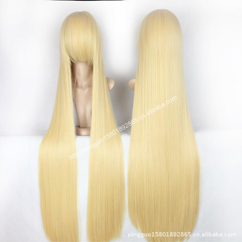 Гаджет  Cosplay wig/warm golden cos/east eight purple cloud/jean blow pomelo 80 cm  None Изготовление под заказ