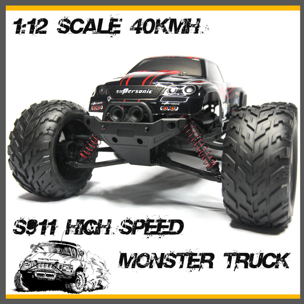 Foxx S911 Off-road Big Wheels Electric RC Car High Speed 40km/h Radio Control Monster Truck Super Power Car Free Shipping(China (Mainland))