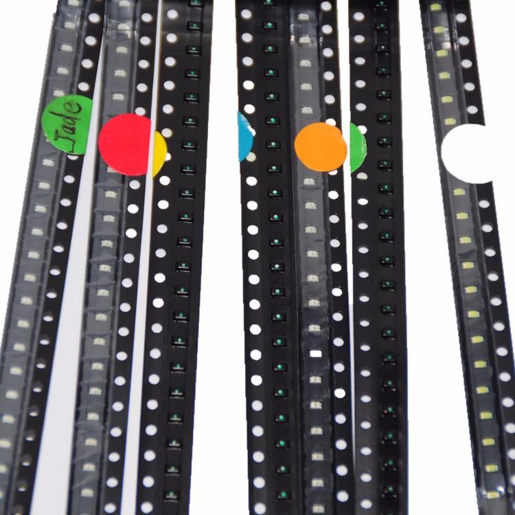 700pcs LED SMD 0603 LED Assortment RedGreenBlueYellowWhiteEmerald-greenOrange 100pcs each SMD 0603 LED Diod Pack (1)
