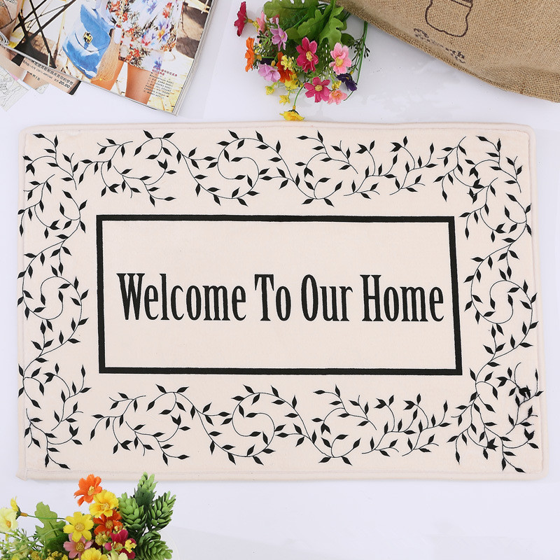 """Welcome To Our Home: 40x60cm """"Welcome To Our Home"""" Flannel Mats Prevent"""