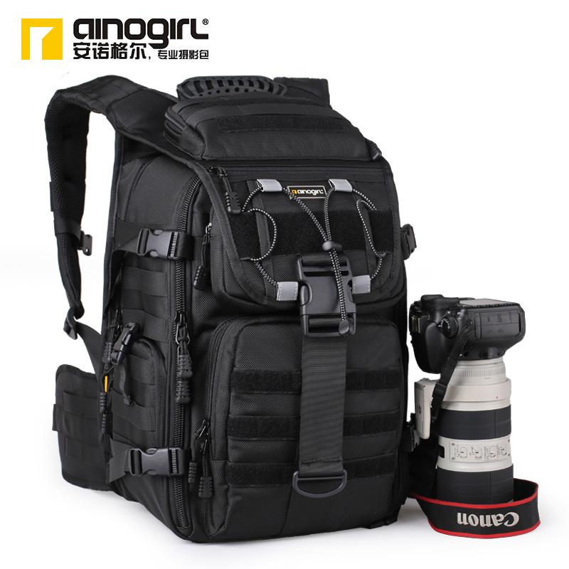 Professional slr double-shoulder camera bag camera bag double-shoulder slr backpack camera bag a2176(China (Mainland))