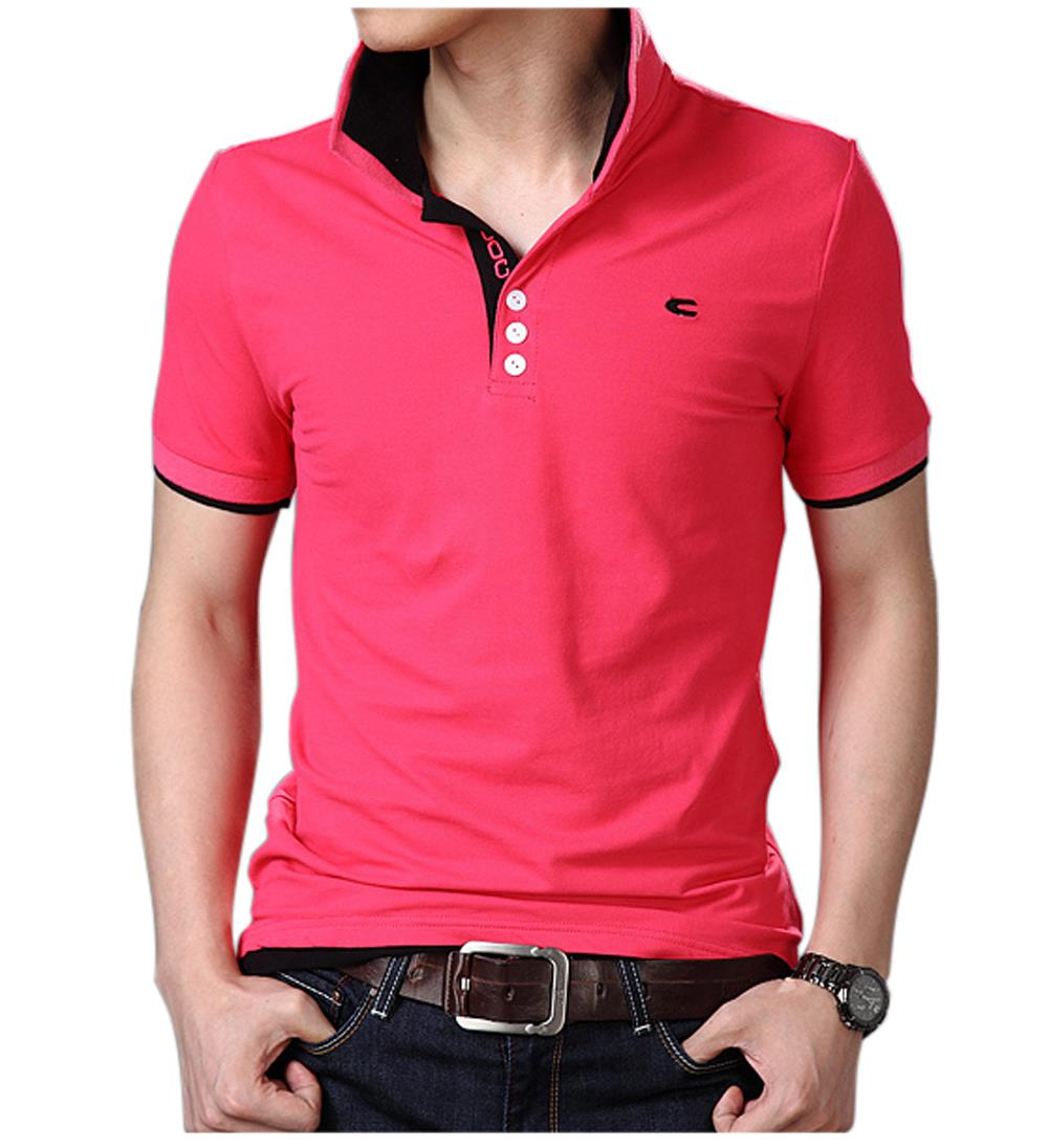 Free Shipping Wholesale Mens Multi Color Polo Shirt Short