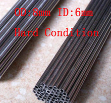 8x1mm Hard Condition Stainless Steel capillary pipe stainless steel Small tube          500mm/pc,20pcs/lot(China (Mainland))