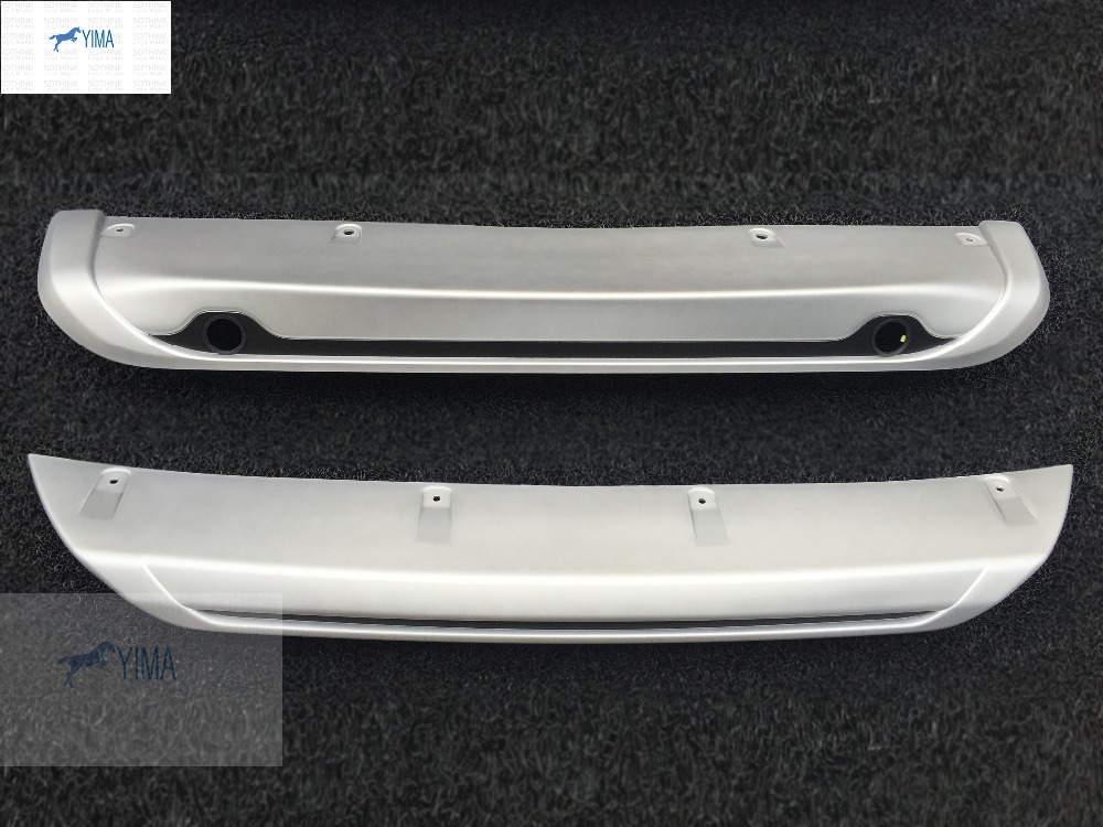 Фотография Exterior For Nissan Qashqai J11 2014 2015 2016 ABS Front + Rear Bumper Protector Skid Guards Plate 2 pcs