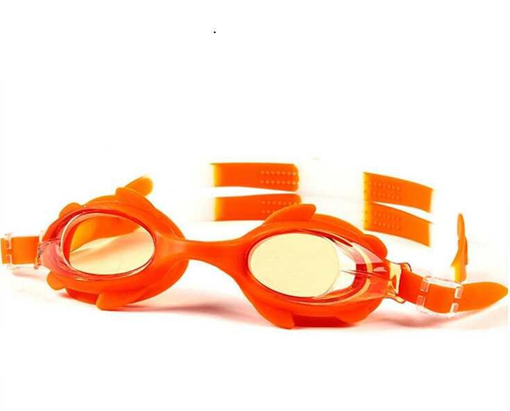 New Fashion Children Outdoor Swim Pool Silicone Swimming Glasses Eyeglasses Goggles Anti-fog Eyewear Crab Shape(China (Mainland))