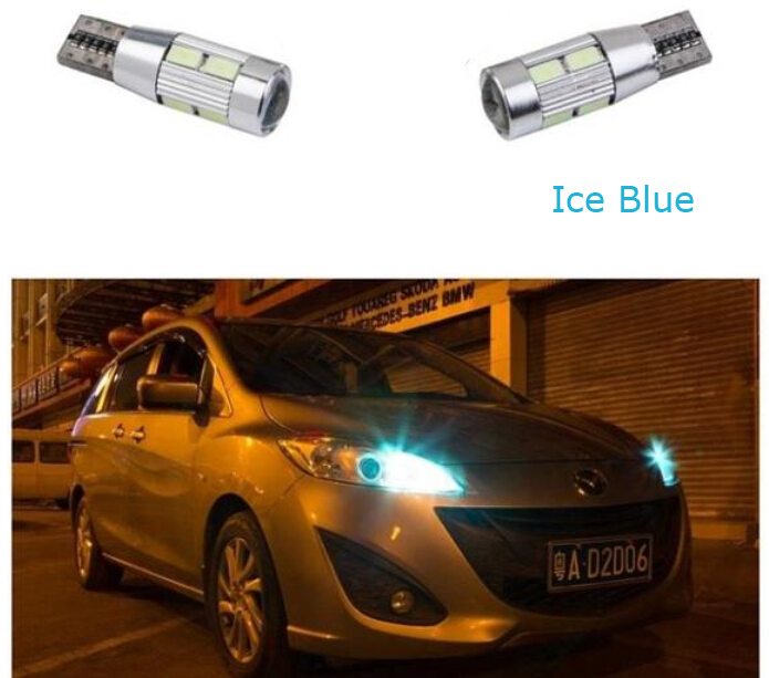 2 X Auto Car Light Bulb 5630 SMD 10 LED T10 W5W 12V White Interior Parking