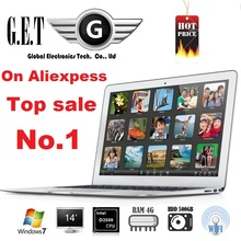 New  14 inch Laptop notebook computer Ultrabook laptop PC HD Screen 1920*1080 Windows7 win8.1  Intel J1800 4GB DDR3 500gb HDD(China (Mainland))
