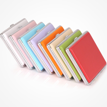 Double leather cigarette case  multi-colored  stainless steel cigarette box professional smoking set