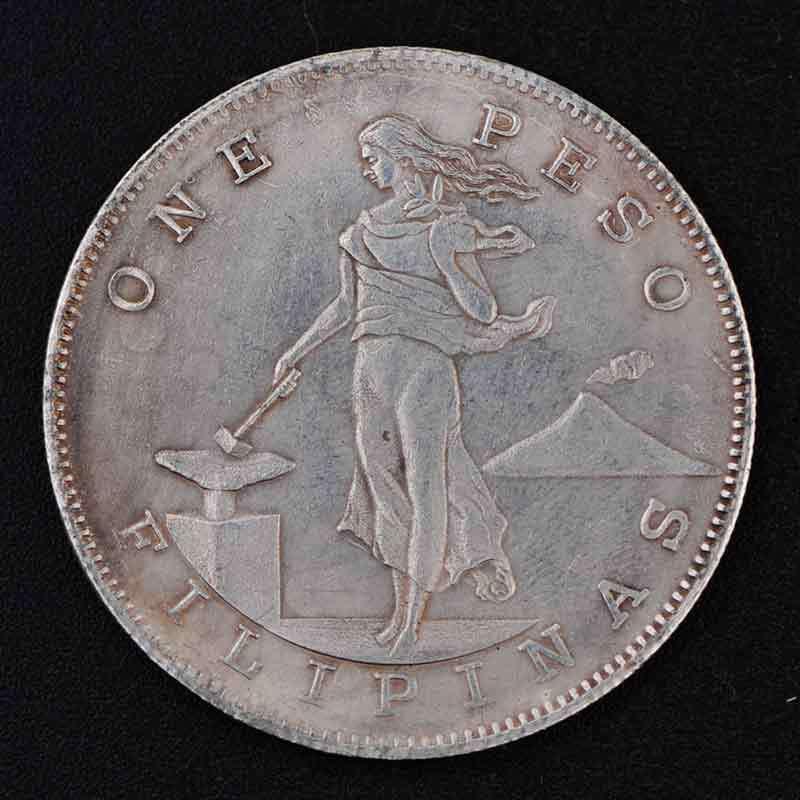 Atacado 2015 100 pcs prata moedas de prata de 1906 edição de filipinas 1 peso moedas de prata(China (Mainland))