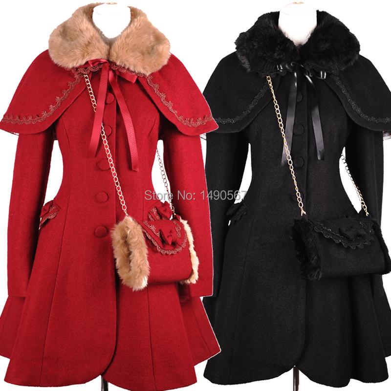 Beautiful Sweet Lolita Dress Long-sleeve Winter Dresses for Women Winter Coat Warm Coat Cosplay Costumes XS-XL Custom-madeОдежда и ак�е��уары<br><br><br>Aliexpress