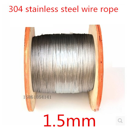 High Quality 50 meters 2mm 7*7mm stainless steel wire rope,(China (Mainland))