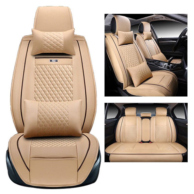 Universal Car seat Covers Skoda octavia 2 rapid fabia 2 octavia a5 octavia a7 front rear auto accessories cars-styling