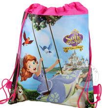 Bag Non-woven kids School Bags 1pcs Backpack child Character String cute mochila Free shipping