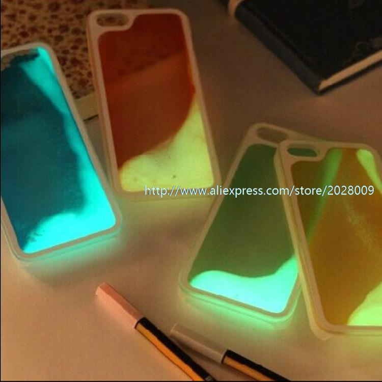 Luminous Flowing case for iphone 5/5 s 6 4.7 /5.5 cases apple 2000/lot(China (Mainland))