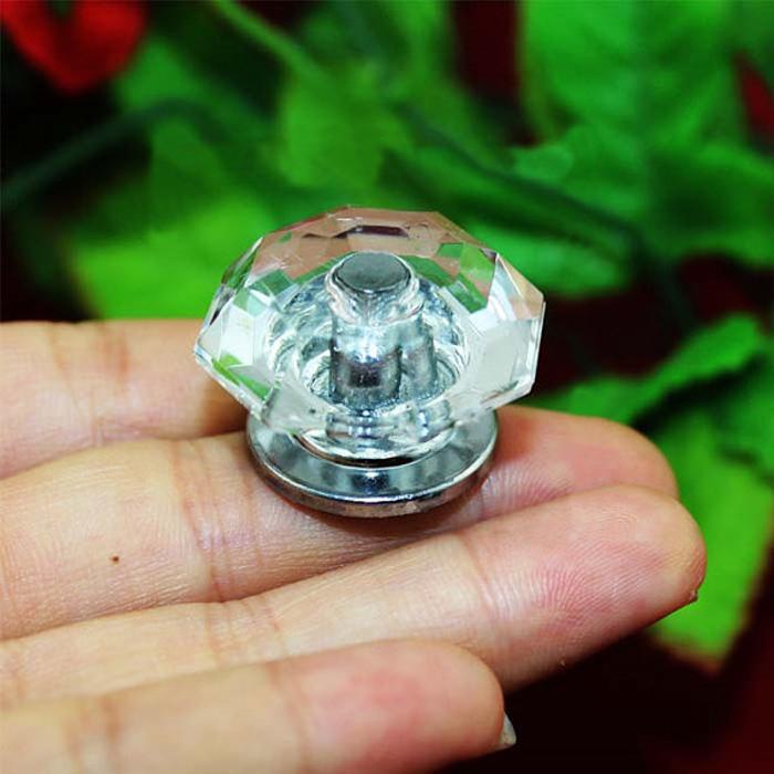 Diamond Shape Acrylic Knob clear Crystal Drawer Dresser Pulls Knobs Jewerly Box Pull Hanle Kitchen Cabinet Knobs(China (Mainland))