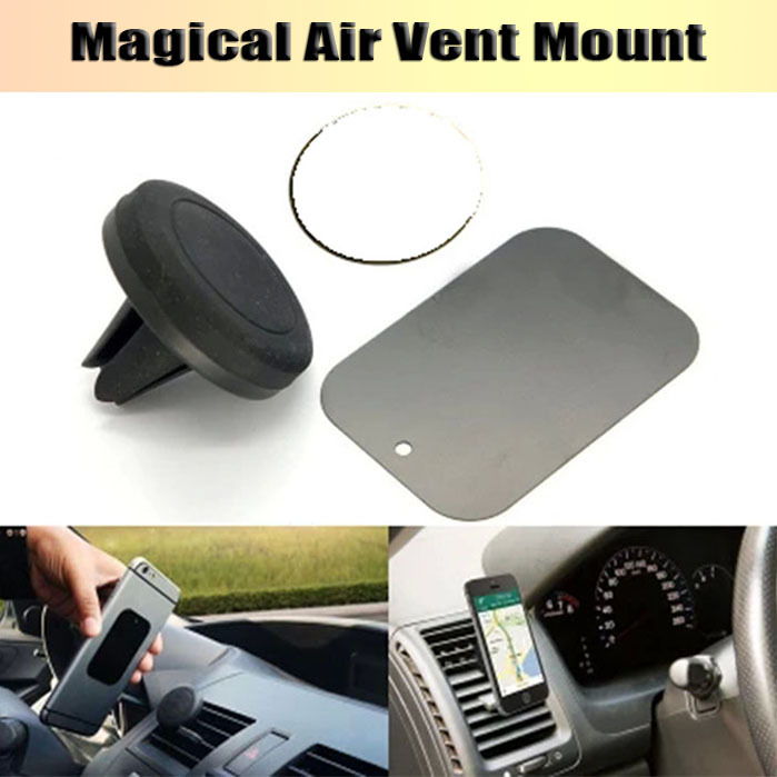 Universal Car Magnetic Air Vent Mount Clip Holder Dock for iPhone 6 plus 4S 5S Samsung NOTE 2 3 GPS MP4 car phone holder Stand(China (Mainland))